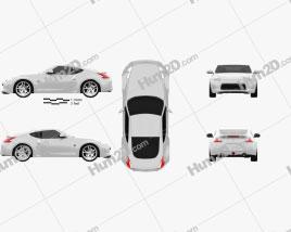 Nissan 370Z Coupe 2013 car clipart