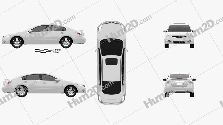 Nissan Altima 2012 Clipart Image
