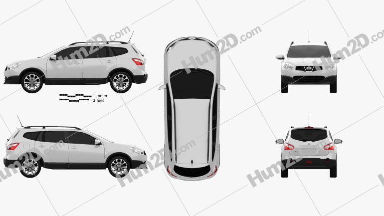 Nissan Qashqai+2 2010 car clipart