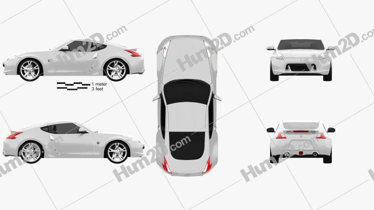 Nissan 370Z Coupe 2009 car clipart