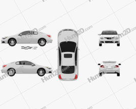 Nissan Altima coupe 2012 Clipart