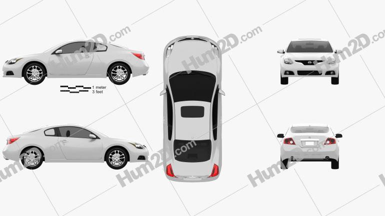 Nissan Altima coupe 2012 car clipart