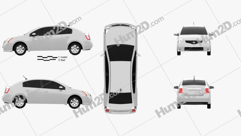 Nissan Sentra 2012 car clipart