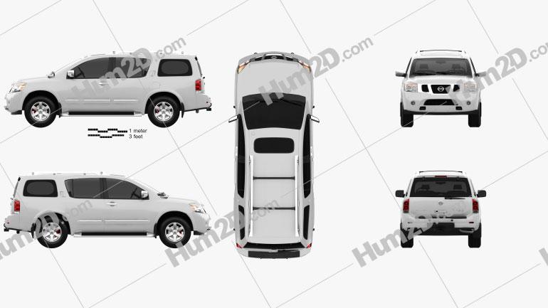 Nissan Armada 2012 Clipart Image