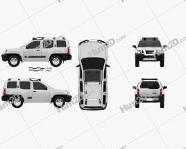 Nissan Xterra 2012 car clipart
