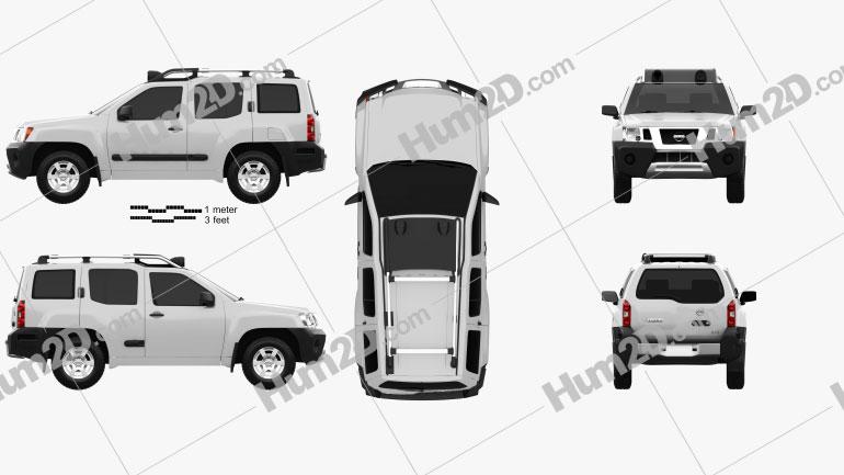 Nissan Xterra 2012 Clipart Image
