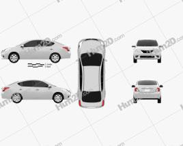 Nissan Versa (Tiida) sedan 2012 Clipart