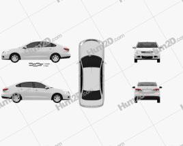 Nissan Almera (Sylphy) 2012 car clipart