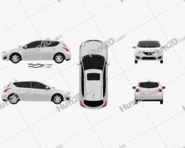 Nissan Tiida 2013 car clipart