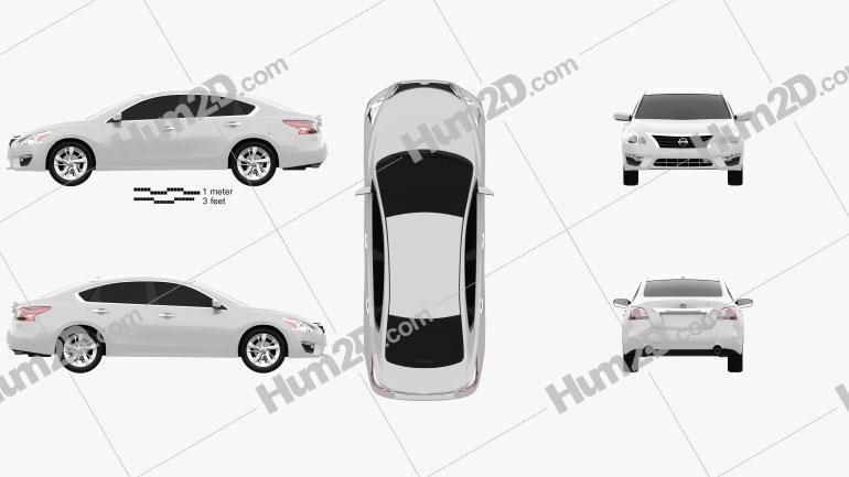 Nissan Altima (Teana) 2013 car clipart
