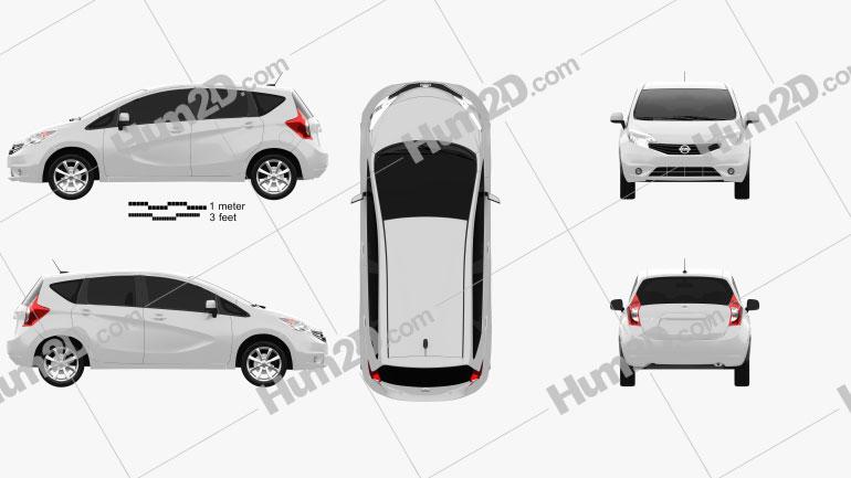 Nissan Versa Note (Livina) 2013 car clipart