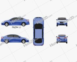 Nissan Sentra SR 2013 car clipart