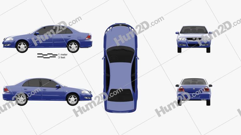 Nissan Almera (B10) Classic 2012 Clipart Image