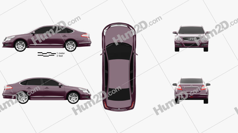 Nissan Teana (J32) 2012 Clipart Image