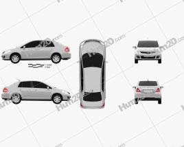 Nissan Tiida (C11) sedan 2012 car clipart