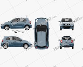 Nissan Micra 2014 car clipart