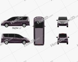 Nissan Serena Highway Star 2013 clipart