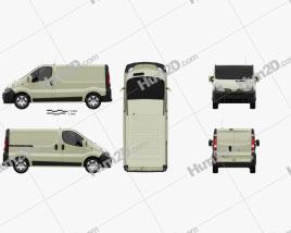 Nissan Primastar Panel Van 2002 clipart
