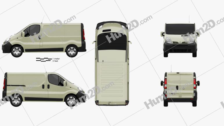 Nissan Primastar Panel Van 2002 Clipart Image