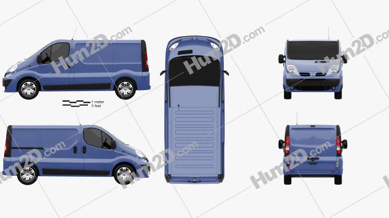 Nissan Primastar Kastenwagen 2006 clipart