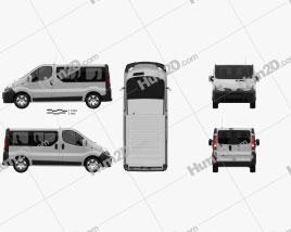 Nissan Primastar Passenger Van 2002 clipart