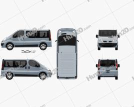 Nissan Primastar Passenger Van 2006 clipart