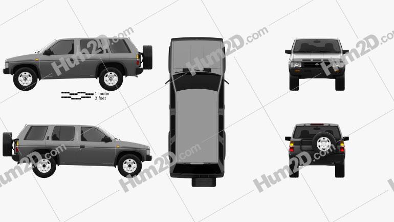 Nissan Terrano (Pathfinder) 1993 car clipart
