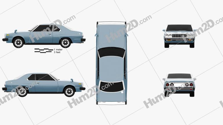 Nissan Skyline (C210) GT Coupe 1977 Clipart Image
