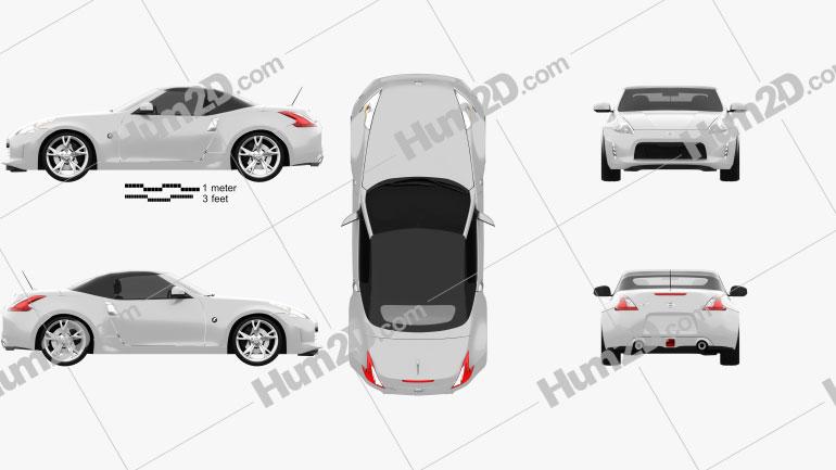Nissan 370Z roadster 2013 Clipart Image