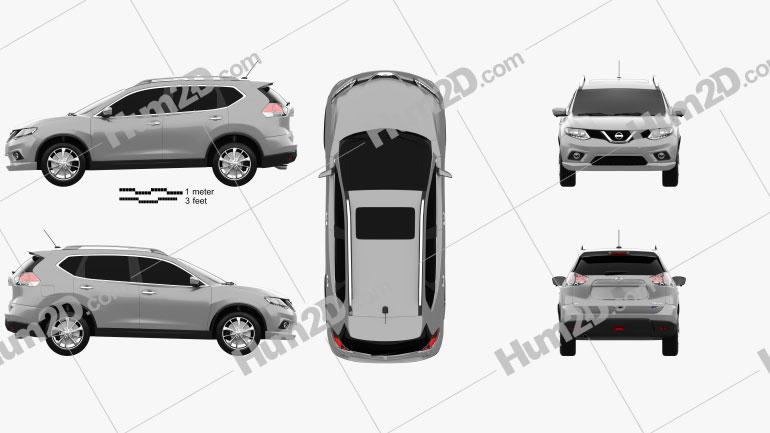 Nissan Rogue 2014 car clipart