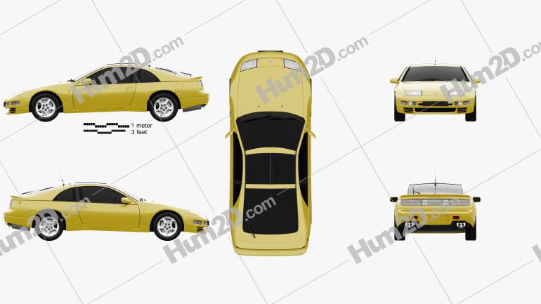 Nissan 300ZX (Z32) 1989 car clipart