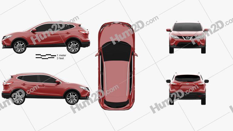 Nissan Qashqai 2014 car clipart