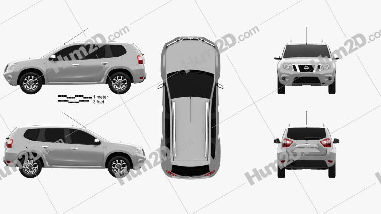 Nissan Terrano 2013 Clipart Bild