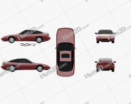 Nissan 240SX 1989 car clipart