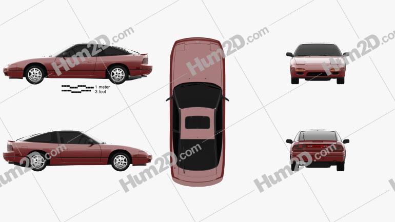 Nissan 240SX 1989 Clipart Image