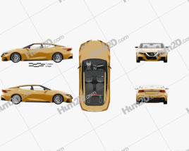 Nissan Sport Sedan with HQ interior 2013 car clipart