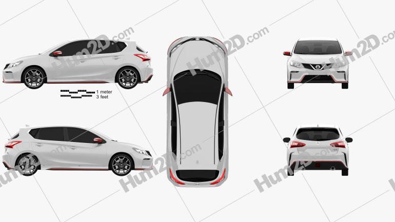 Nissan Pulsar (NB17) Nismo S 2014 Clipart Image