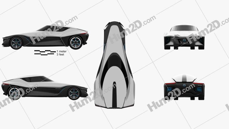 Nissan BladeGlider 2013 Clipart Image