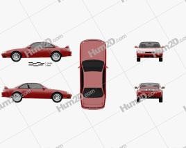 Nissan Silvia 1996 car clipart