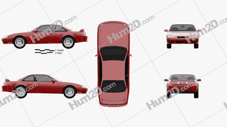 Nissan Silvia 1996 Clipart Image