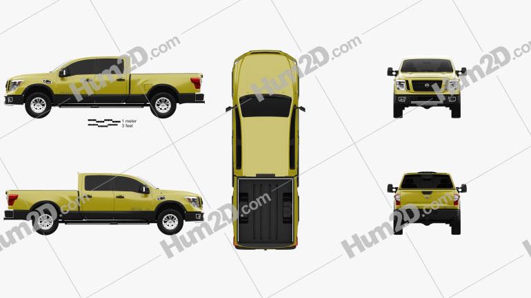 Nissan Titan Crew Cab XD Pro 4X 2016 car clipart