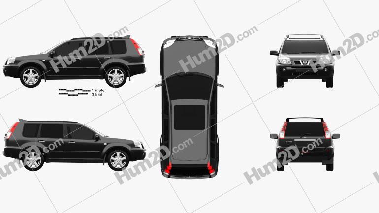 Nissan X-Trail 2004 car clipart
