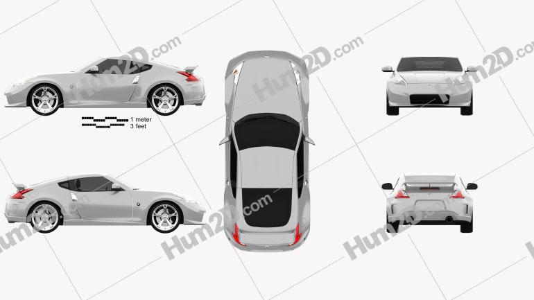 Nissan 370Z Nismo 2009 car clipart