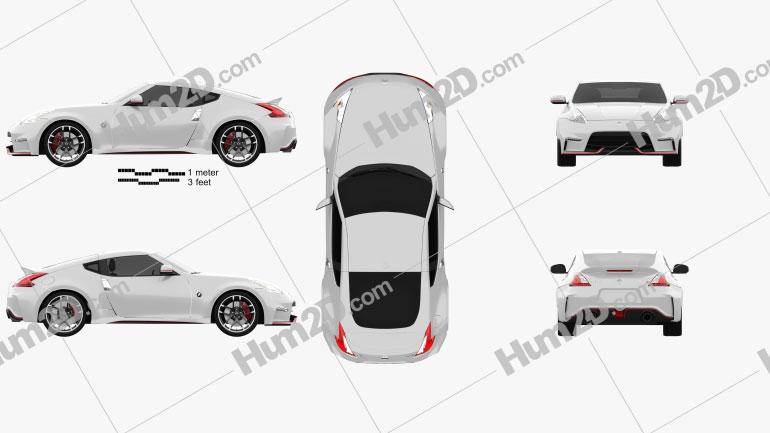 Nissan 370Z Nismo 2015 car clipart