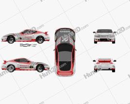 Nissan 370Z Nismo GT Academy 2009 car clipart