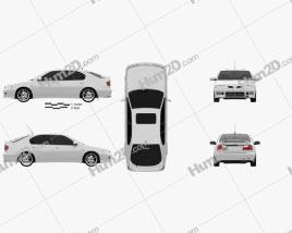 Nissan Primera GT 1997 car clipart