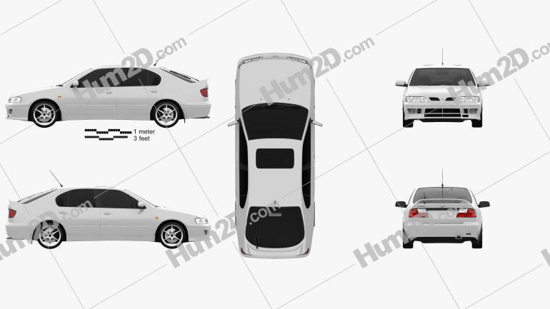 Nissan Primera GT 1997 Clipart Image