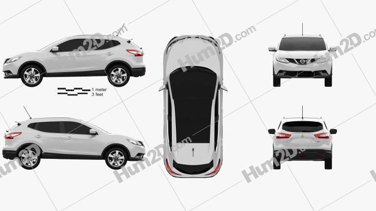 Nissan Qashqai 2016 car clipart