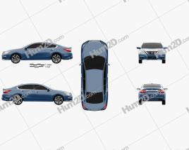 Nissan Altima SR 2015 car clipart