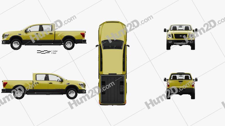Nissan Titan Crew Cab XD Pro 4X with HQ interior 2016 car clipart